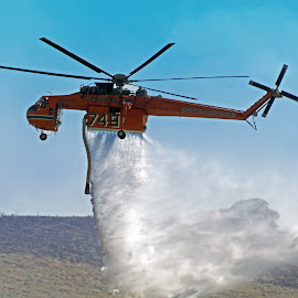 Fighting wildfire by Rick Roesner - News & Events Disasters