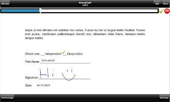 Screenshot of SignMyPad