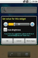 Screenshot of One Click Brightness Widget