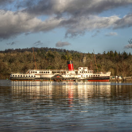 Maid of the Loch by Stephen Hall - Transportation Boats ( scotland, lake, loch, lomond, paddle )