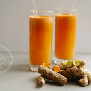Pineapple Ginger fresh vegetable juice (vegan, raw, paleo)