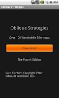 Screenshot of Oblique Strategies