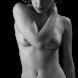 Torso by John Gross - Nudes & Boudoir Artistic Nude ( torso, black and white, woman, digital manipulation, fine art, artistic nude )