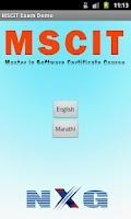 Screenshot of MSCIT Online Exam Practice