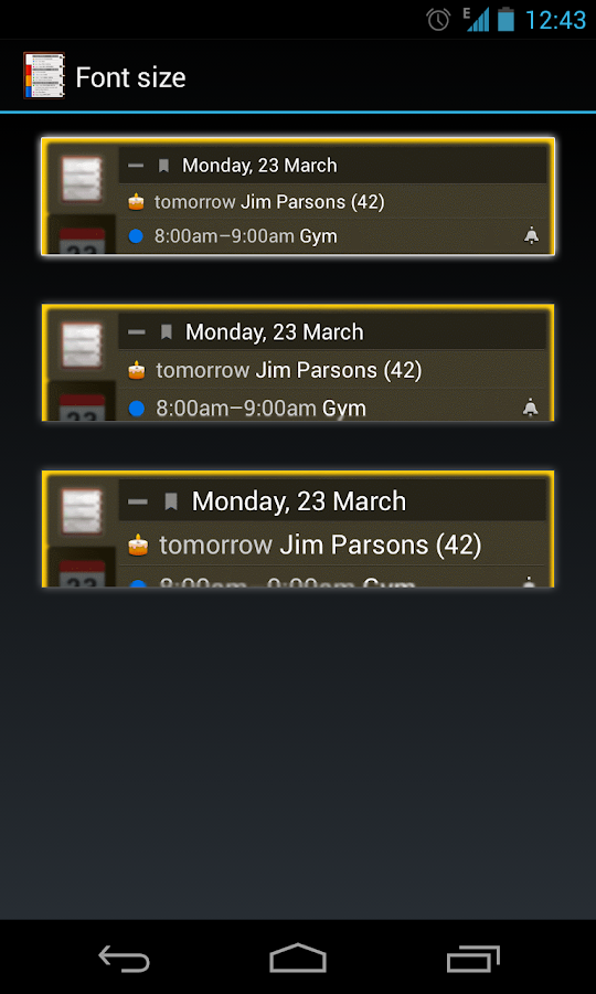 All-in-One Agenda widget Screenshot 7