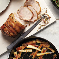 Pork Roast with Caramelized Parsnips