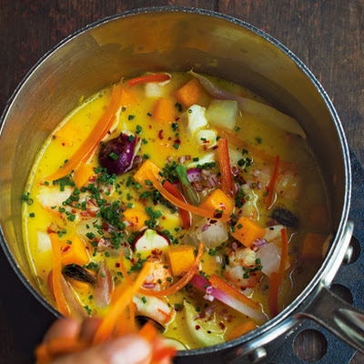 Seafood Chowder with Squash