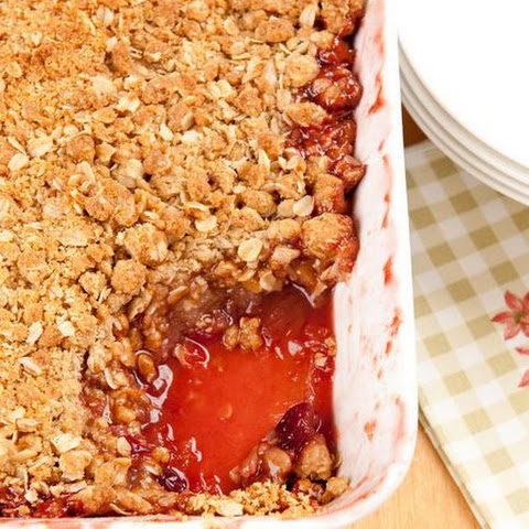 Apple Cranberry Oat Crumble