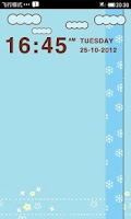 Screenshot of LiveCloud Clock Widget