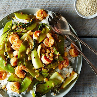 Shrimp and Baby Bok Choy Stir-Fry