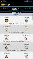 Screenshot of La Liga Standings