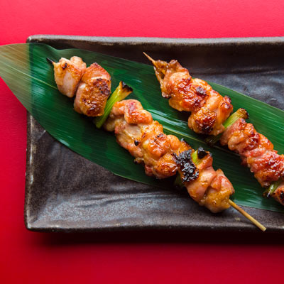 Chicken and Scallion Yakitori