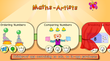 Screenshot of Maths Artists first grade