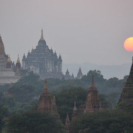 Sunset, Bagan, Myanmar by Paul Bryers - Buildings & Architecture Places of Worship ( temples, myanmar, sunset, bagan, burma )