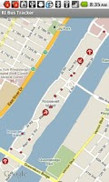 Screenshot of Roosevelt Island Bus Tracker