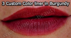 3 Custom color lip liner in Burgundy