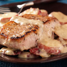 Pork Chops with Potatoes and Mushrooms