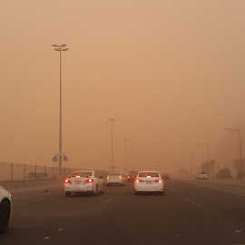 Dustsorms by Naveen Aggarwal  - Landscapes Weather ( visibility, cars, dust )