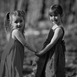 Best Friends by Jason Longbrake - Babies & Children Children Candids ( columbus ohio, girls, woods, jason longbrake photography, holding hands )