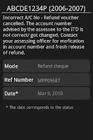 Screenshot of India Income Tax Refund Status