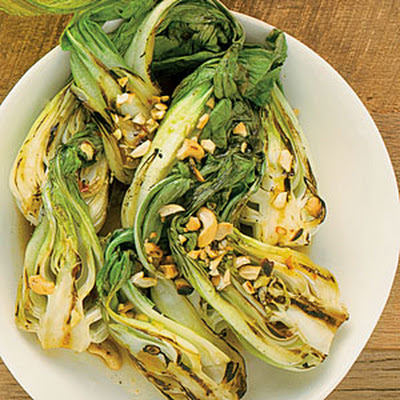 Spicy Garlic Grilled Baby Bok Choy