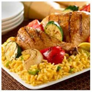 Grilled Chicken and Veggies Over Rice