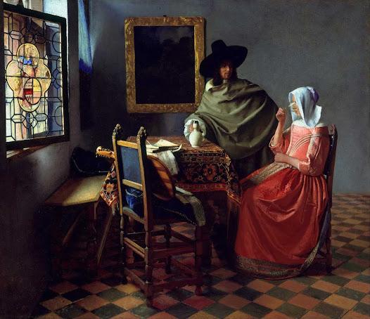 Vermeer Jan, Il bicchiere di vino