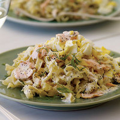 Salmon Pasta with Poppy and Dill