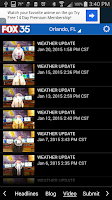 Screenshot of FOX35Weather