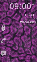 Screenshot of GO Locker- Pink Fur Theme