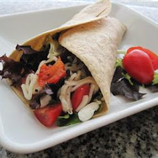 Goat Cheese And Red Pepper Wraps