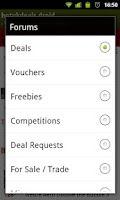 Screenshot of HotUKDeals DROID