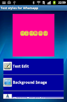 Screenshot of Whats text art creator