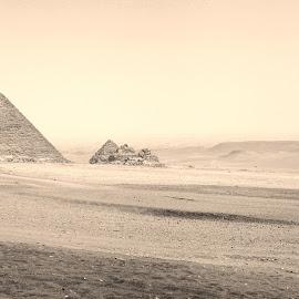 Cairo by Alexander Voda - Landscapes Deserts ( desert, pyramid, landscape, egypt, photography )