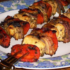 Chicken Kabobs with Garlic and Basil