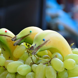 by Doreen Hart - Novices Only Objects & Still Life ( #fun, #grapes, #banana, #fruit, #dolphin )