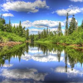 Grasse River by Don Thurheimer - Landscapes Waterscapes ( water, grasse, reflections, summer, river,  )