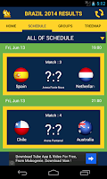 Screenshot of Brazil 2014 football results