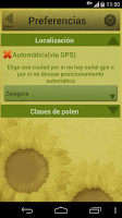 Screenshot of Niveles de polen