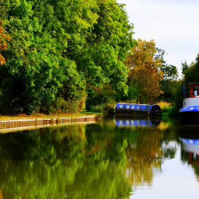 Down by the Canal by Neil Hannam - Uncategorized All Uncategorized ( water, nature, boat, canal, river,  )