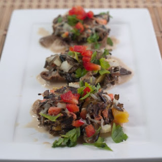 Wild Rice Cakes with Lager Cream Sauce