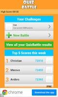 Screenshot of Quiz Battle