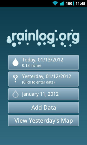 Rainlog Data Logging Tool