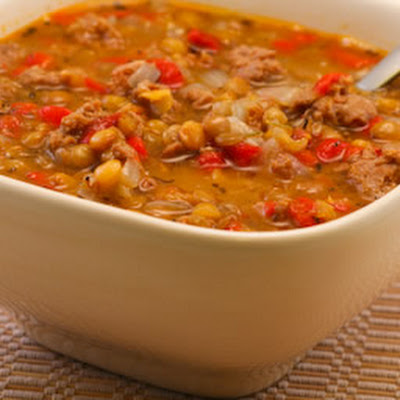 Lentil Soup Recipe With Italian Sausage And Roasted Red Peppers Recipe ...