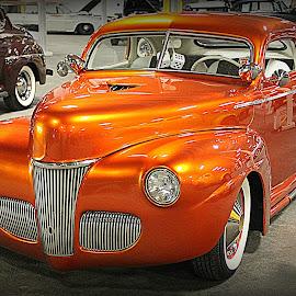 Glowing by Norman Stephens - Transportation Automobiles ( orange, road rockets, rod, automobile, hotrod, hot, hot rod, custom, custom car,  )