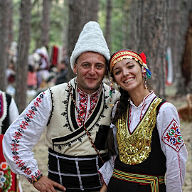 Jeravna by Glyn Thomas Jones - People Couples ( jeravna, village, clothes, tradition, folklore, traditional, bulgarian, bulgaria,  )