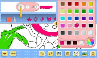 Screenshot of Kid Coloring Book HD