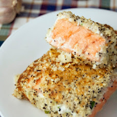 Baked Everything Bagel Salmon