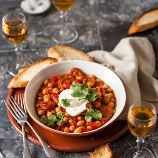Chickpea And Chorizo Tapas With Sherry
