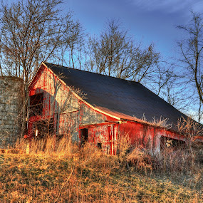 Old Barn of Ditch Rd by Dennis McClintock - Buildings & Architecture Decaying & Abandoned ( adandoned barns, old buildings, beautiful or broken-down barns! challenge, barns, big,  )